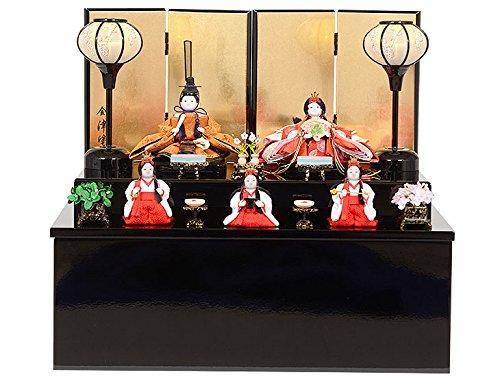 雛人形 収納型五人飾り  No.304-64   B01MA2WBW4