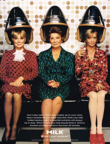 "TV Moms - Shirley Jones - Marion Ross - Florence Henderson - Got Milk ? - Magazine Ad - Year 1997-11"" x 8"" Teen Magazine Poster Pinup Clipping"