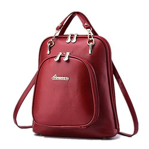 FOLLOWUS - Bolso mochila  para mujer, blanco (Blanco) - G72216A Rojo