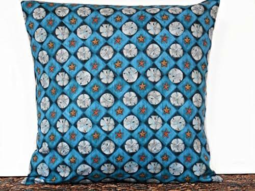 Amazon.com: Sand Dollar Decorative Throw Pillow Cover Navy