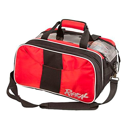 Radical Double Tote with Shoe Pouch Bowling Bag, Black/Red (Bowling 2 Ball Tote Bag)