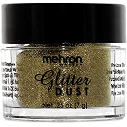 Mehron Makeup Glitter Dust Face & Body Paint (GOLD)