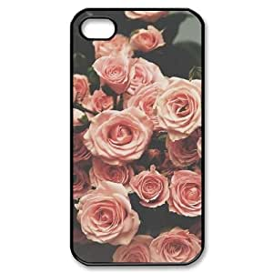 Customized Durable Case for iPhone 5 5s, Pink Flower Phone Case - HL-2967122