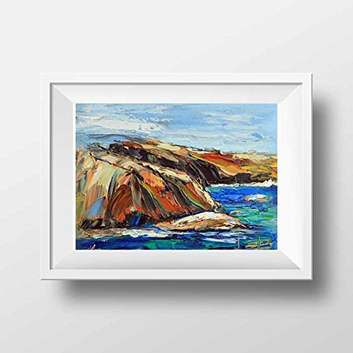 Fine art signed giclee print of an original painting of the Point Lobos State Park in Carmel, California