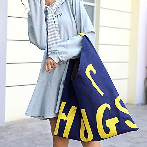 hombro al Lona para Azul de Theshy Bolso multicolor mujer vqECUU