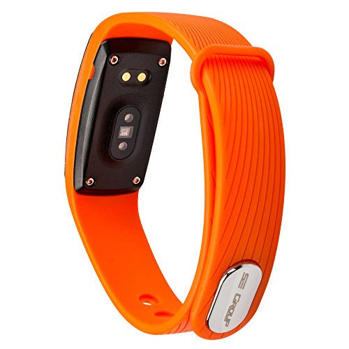 Fitness Tracker SE Group HR with Heart Rate and Sleep Monitor, OLED Touch Screen Smart Watch Fitness Band, Pedometer and Calories Counter, Updated version for Android and iPhone (Orange)