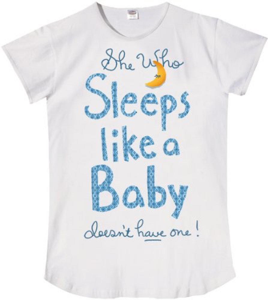 GOWA She Who Sleeps Like a Baby Sleep Shirt - White