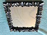 9'' x 9'' Mussel Shell Mirror Made with Shells from Cape Cod