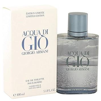 adc3b5473d1327 Amazon.com   Acqua Di Gio Blue Edition by Giorgio Armani for Men Eau De  Toilette Spray (Limited Edition) 3.4 oz   Beauty