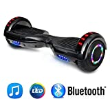 NHT 6.5″ inch Aurora Hoverboard Self Balancing Scooter With Built-In Bluetooth Speaker Colorful LED Wheels and Lights- UL2272 Certified …