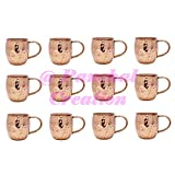 Panchal Creation 12 Pcs Copper Moscow Mule Mug Cup Tableware Bar Accessories Drinkware Glassware