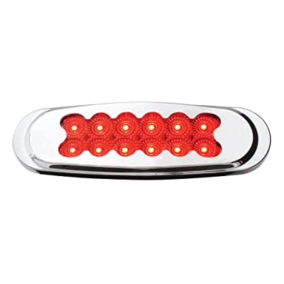 Grand General 76702 Red Matrix Style Ultra Thin Spyder 12-LED Marker Light with Chrome Bezel and Red Lens: Automotive