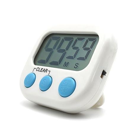 Temporizador digital electrónica cocina cocina nuevo reloj con alarma magnética y soporte, minuto segundo para
