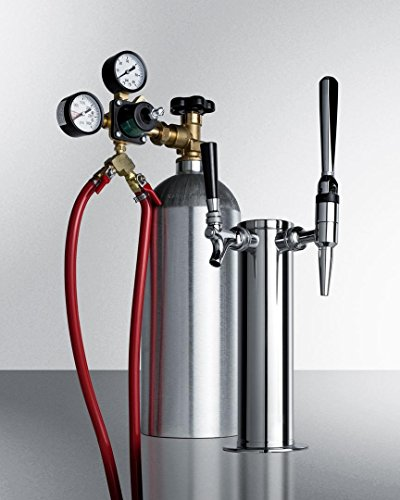 Summit KitCMTWIN Cold Coffee Brew Single Tap for Converting Beer Dispenser to Both Flat and Nitro-Infused Coffee