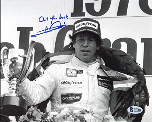 Mario Andretti Indy Racing Authentic Signed 8X10 Photo Autographed BAS #B71880