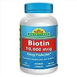 Nova Nutritions Biotin 10,000 mcg 200 Capsules by Nova Nutritions For Sale