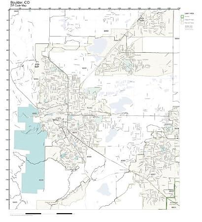 Amazon Com Zip Code Wall Map Of Boulder Co Zip Code Map Laminated