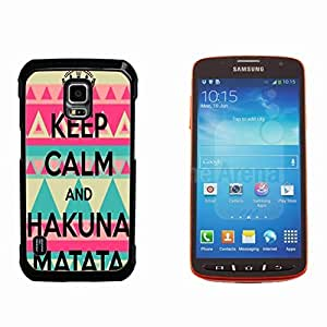 Keep Calm and Hakuna Matata Hard Plastic and Aluminum Back Case for Samsung GALAXY S5 Active G870 by ruishername