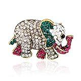 ptk12 Classic Elephant Brooch Animal Rhinestone Women Brooch Gift Fashion Elephant Brooch
