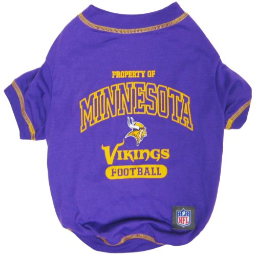 NFL MINNESOTA VIKINGS Dog T-Shirt, Large. - Cutest Pet Tee Shirt for the real sporty pup