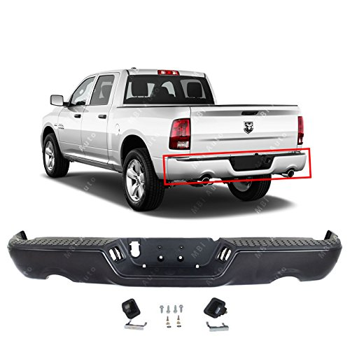 MBI AUTO - Primered Steel, Rear Bumper Assembly for 2009-2018 Dodge RAM 1500 Pickup 09-18, CH1103123