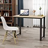 Product review for Merax Modern Simple Design Computer Desk Table Workstation for Home & Office (White and Oak)