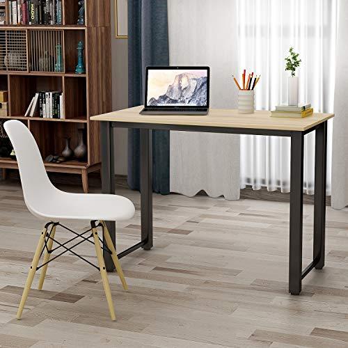 P PURLOVE Modern Simple Design Computer Desk, Study Desk, Table, Writing Desk, Workstation for Home Office, Oak