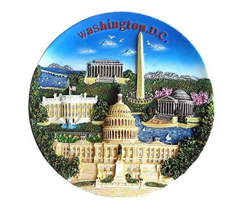 (National Mall Panorama Washington DC Souvenir Decorative Hanging Plate - Washington DC Souvenir)