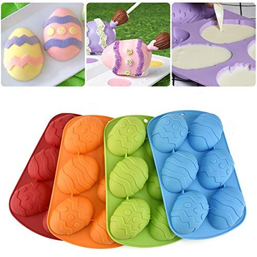 Molde De Pastel De Pascua Molde de silicona DIY Huevos de Dinosaurio Molde de Chocolate Herramientas para Hornear de Cocina
