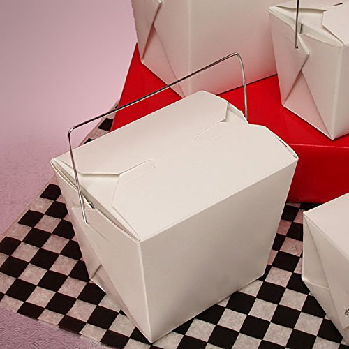 Chinese Take Out Boxes with Wired Handle 1 Pint - Bakery Box