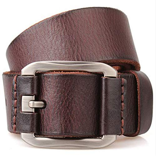 Designer Belt Men Luxury Cowhide Grain Genuine Leather Vintage 3.8cm Masculine Plus Big Size Soft Belt 140
