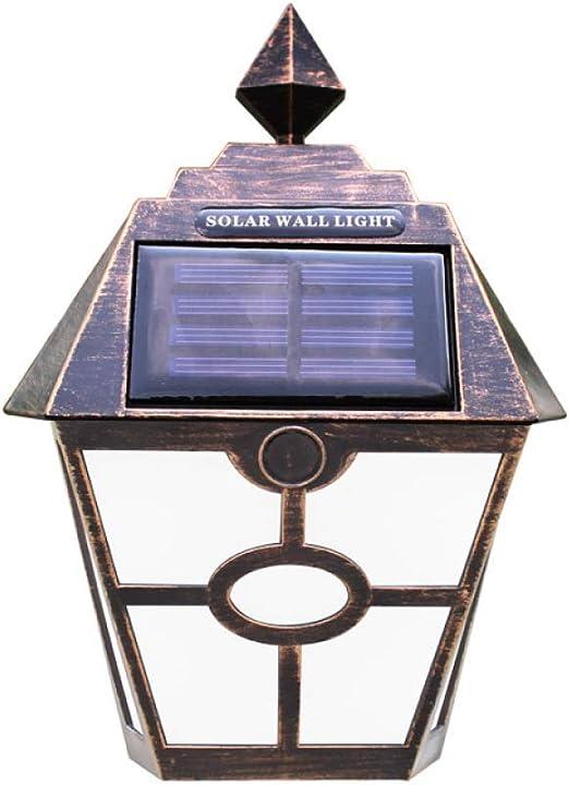 Hongge Focos led Exterior,Solar de Pared Retro lámpara jardín Patio Villa Pared Cerca Escalera lámpara 19 * 14cm: Amazon.es: Hogar