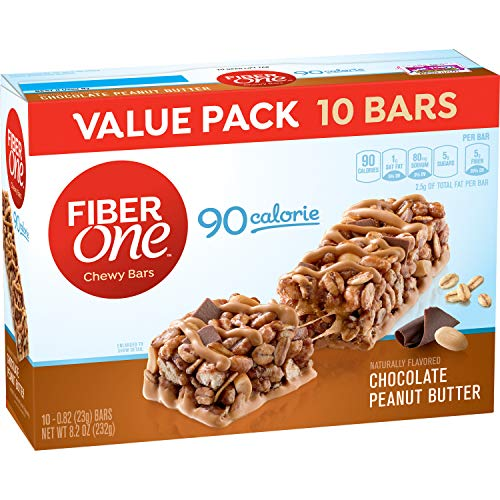 Fiber One 90 Calorie Bar, Chocolate Peanut Butter, 10 Count (Pack of 6)
