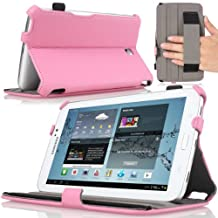 MoKo Slim-Fit Multi-angle Folio Cover Case for Samsung Galaxy Tab 3 7.0 inch SM-T2100 / SM-T2110 Android Tablet, PINK