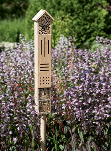 Gardener's Supply Company Wooden Insect Hotel with Stake - coolthings.us
