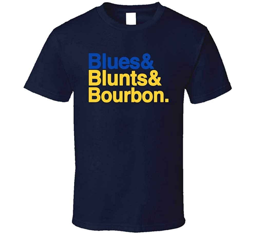 Blunts And Bourbon St Louis Hockey Dj Party T Shirt