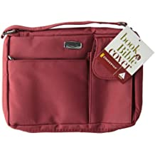 Microfiber Red with Exterior Pockets, LG Bible Cover