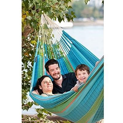 LA SIESTA Flora Blossom - Organic Cotton Kingsize Classic Hammock -  - patio-furniture, patio, hammocks - 510wY2xirnL. SS400  -