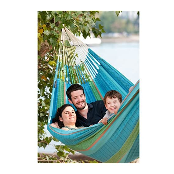 LA SIESTA Flora Colombian Organic Family Hammock -  - patio-furniture, patio, hammocks - 510wY2xirnL. SS570  -