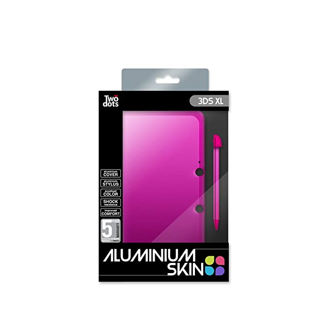 Skin Protection Aluminium + Stylet - Flashy Pink Pour 3DS XL ...