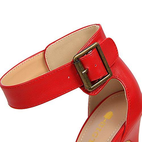 Estilo Sandalias Alto Talón Tacón Cinturón Fino Estados Verano Unidos Sexy Zapatos Y Xiaoqi Hebilla Impermeable Palabra Europa Marrón De Los Retro xza6w6qpB