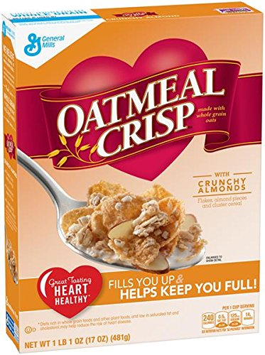 Oatmeal Crisp Crunch Almond, 17 oz (Pack of 4)