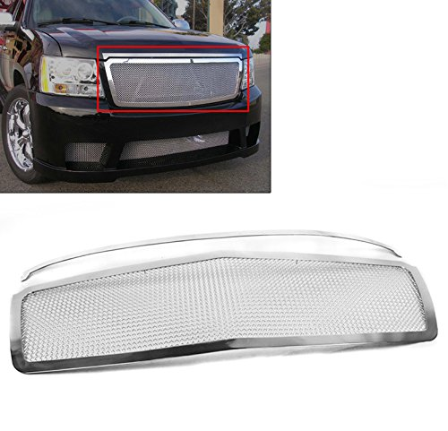 ZMAUTOPARTS Avalanche Suburban Tahoe Upper Stainless Steel Mesh Grille Insert Chrome