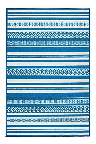 Valdivian Striped Blue Rug 4 x 6