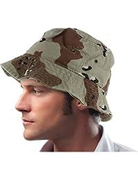 DealStock Mens 100% Cotton Fishing Hunting Summer Bucket Cap Hat