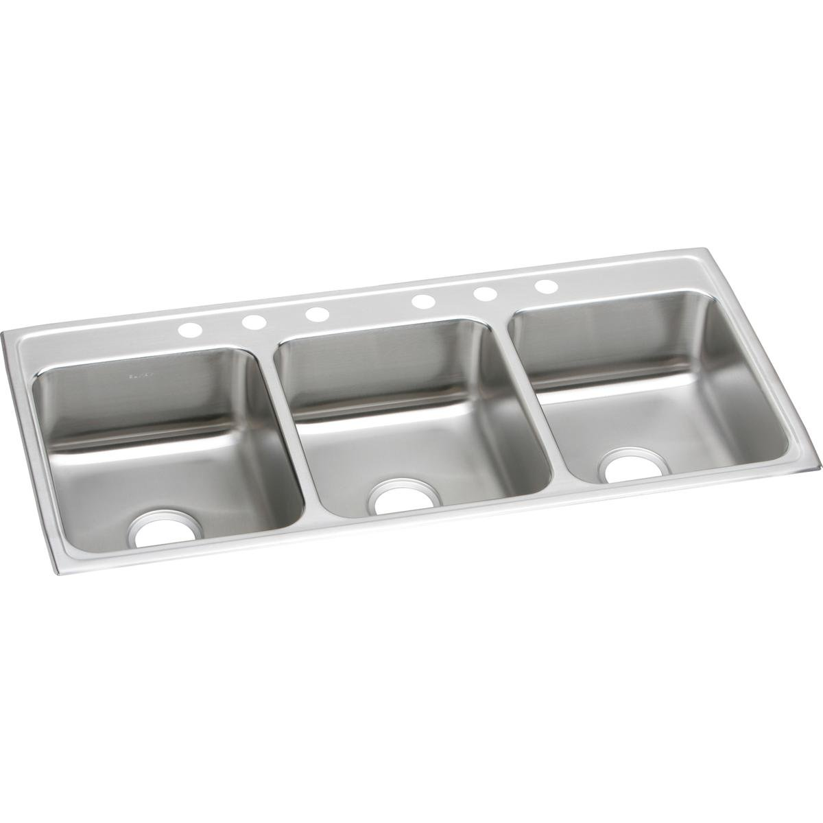 Elkay Lustertone LTR46226 Triple Bowl Top Mount Stainless Steel Kitchen Sink by Elkay
