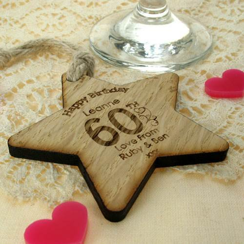 Womens 60th Birthday Gift For Her Wooden Gifts Ideas Personalised Amazoncouk Kitchen