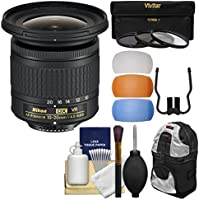 Nikon 10-20mm f/4.5-5.6G DX AF-P VR Zoom-Nikkor Lens with 3 UV/CPL/ND8 Filters + Backpack + Kit