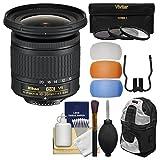 Nikon 10-20mm f/4.5-5.6G DX AF-P VR Zoom-Nikkor Lens with 3 UV/CPL/ND8 Filters + Backpack + Kit