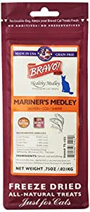 BRAVO 294132 Mariners Medley Salmon/Cod/Shrimp Food for Pets, 0.75-Ounce